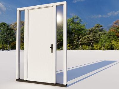 Voordeur twee zijlichten model 01